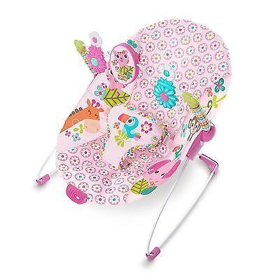 Baby Bouncer Seat Pink Jungle Blooms Girl Infant Toddler Rocker Cradler Sleeper