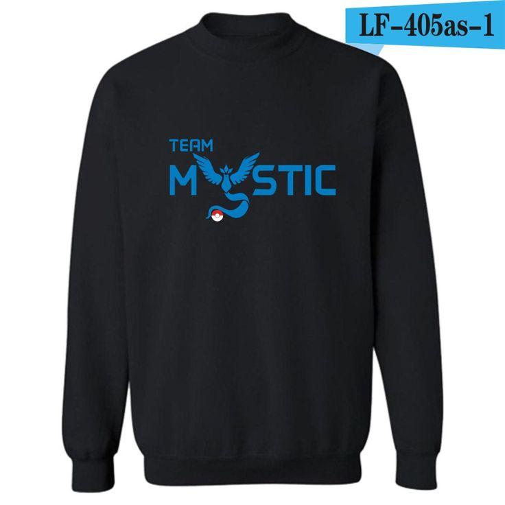 2016 Summer New long sleeve tops Pokemon Go Team Valor Team Mystic Team Instinct Casual Fashion  T-shirt high quality #Affiliate