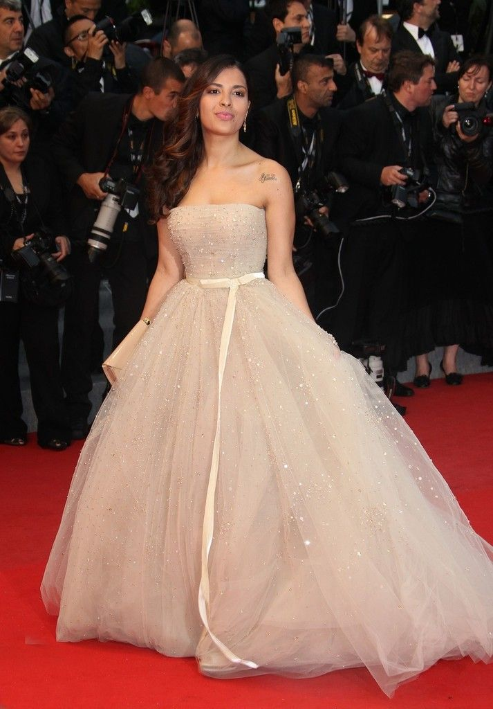 """Gyselle Soaresin Zuhair Murad at the """"Amour"""" premiere (2012)"""