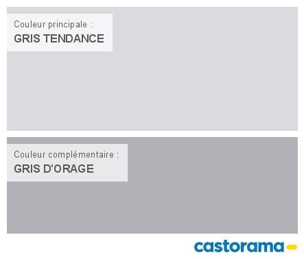 Castorama Nuancier Peinture - Mon harmonie Peinture GRIS TENDANCE satin de DULUX VALENTINE Crême de couleur