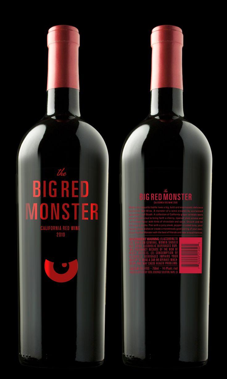 Big Red Monster Wine.  Love this. Great eye IMPDO.: Red Eyes, Wine Labels, Beverage Design, Design 2, Monster Wine, Wine Bottle, Big Red, Design Packaging
