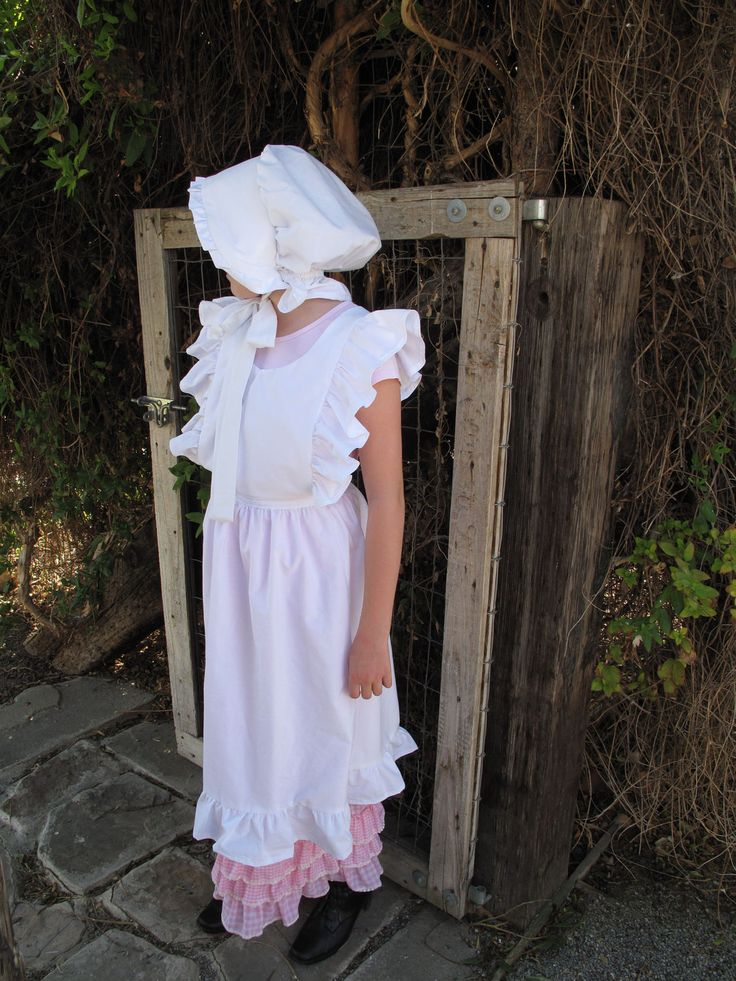 pioneer menand 39 s clothing. custom little girls pioneer, prarie pinafore and bonnet (size 4,6,8 pioneer menand 39 s clothing n