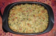 gratin équilibré courgette-riz-jambon