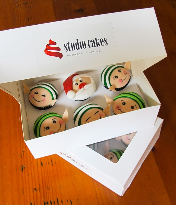 Christmas cupcake boxes - the perfect gift!