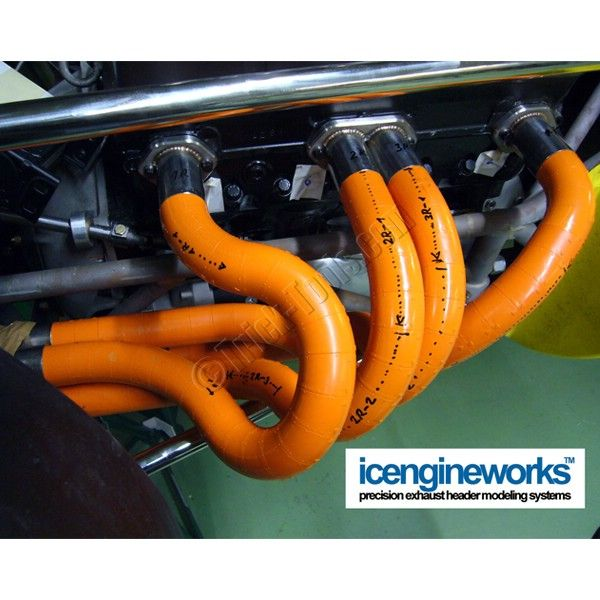 Header modeling kits by Icengineworks save hours when building custom exhaust systems