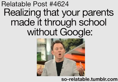 Funny Relatable Memes About School : Relatable post realizing that your parents made it