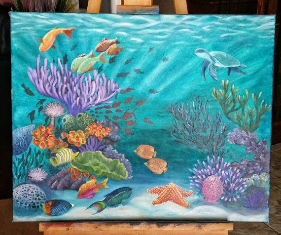 Check out this item in my Etsy shop https://www.etsy.com/uk/listing/265695333/oil-painting-of-underwater