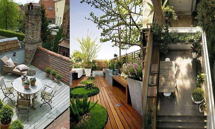 Střešní zahrady - inspirace
