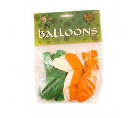 Pack of 15 Irish Tri Colour Balloons