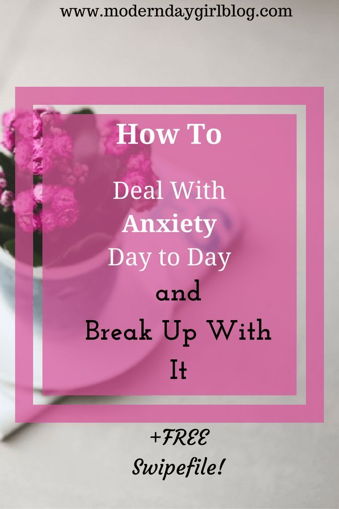 Here are some useful ways to deal with anxiety. Plus, get your FREE downloadable swipefile to go with it! Learn to take back your life and break up with your anxiety!
