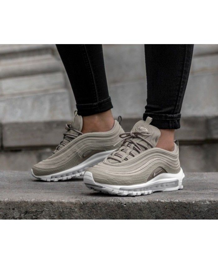 3746d936c7b3 Nike Air Max 97 Premium Cobblestone White Grey Trainers