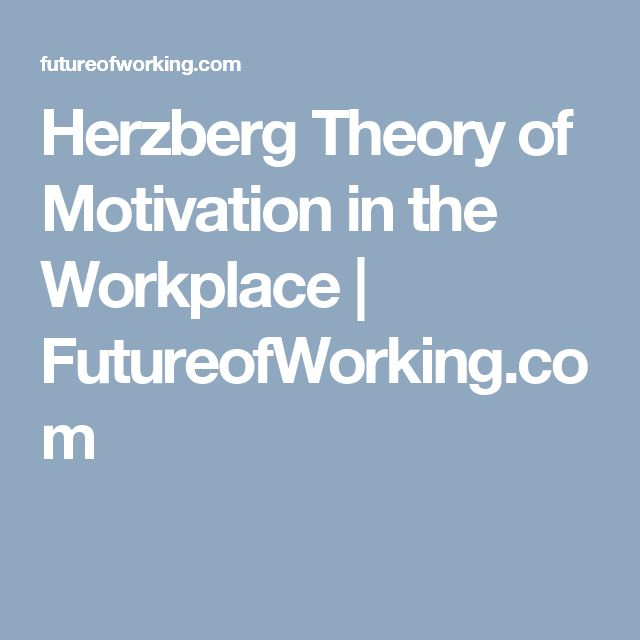 Herzberg Theory of Motivation in the Workplace   FutureofWorking.com