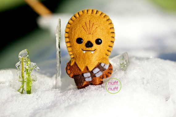 Maybe they neecd a sweet little Chewbacca friend. Pocket Plush toy by nuffnufftoys on Etsy, $15.00