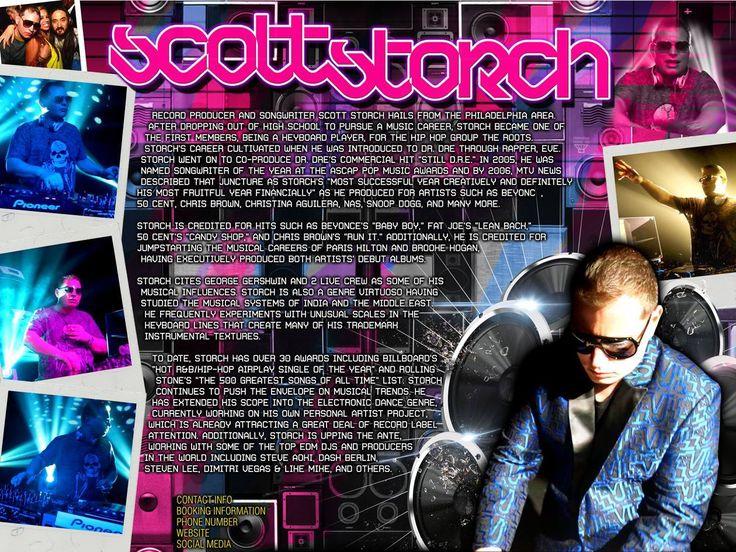 Scott Storch: EDM one sheet.