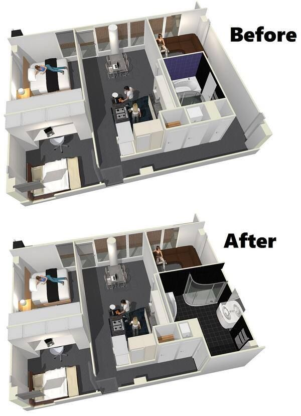 3d Floor Plan Before After Home Design Software Home
