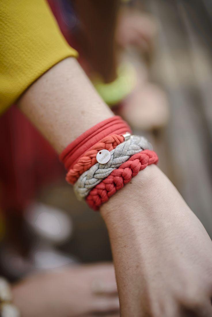 Cotton Knitted bracelet jewelry boho handmade