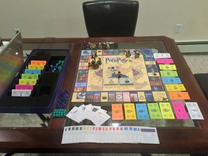 Un fanático de Harry Potter creó un Monopoly con el que todos soñarán con jugar