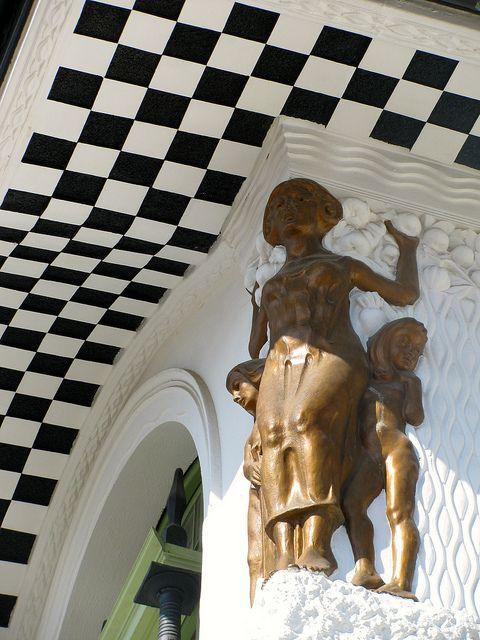 Detalle del Palacio Baburizza Valparaiso, Chile