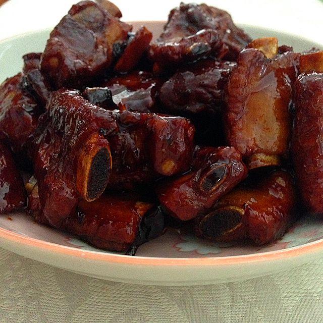 Sticky Sweet Vinegar Pork Ribs Recipe - coasterkitchen - Dayre