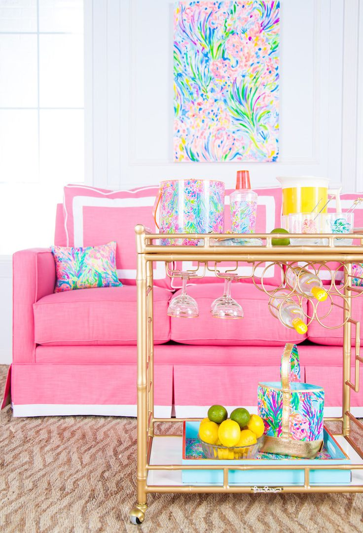 **instructions To Order The Lilly Pulitzer X Society Social Bar Cart!**