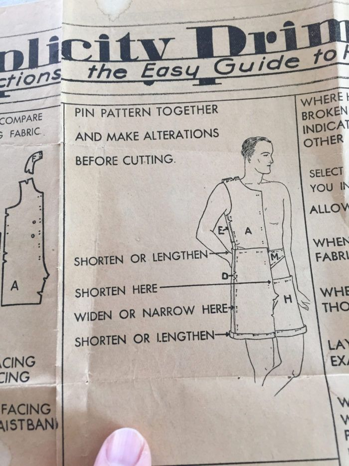 The Obsolete Pattern Re Creating A 1930s Men S Union Suit