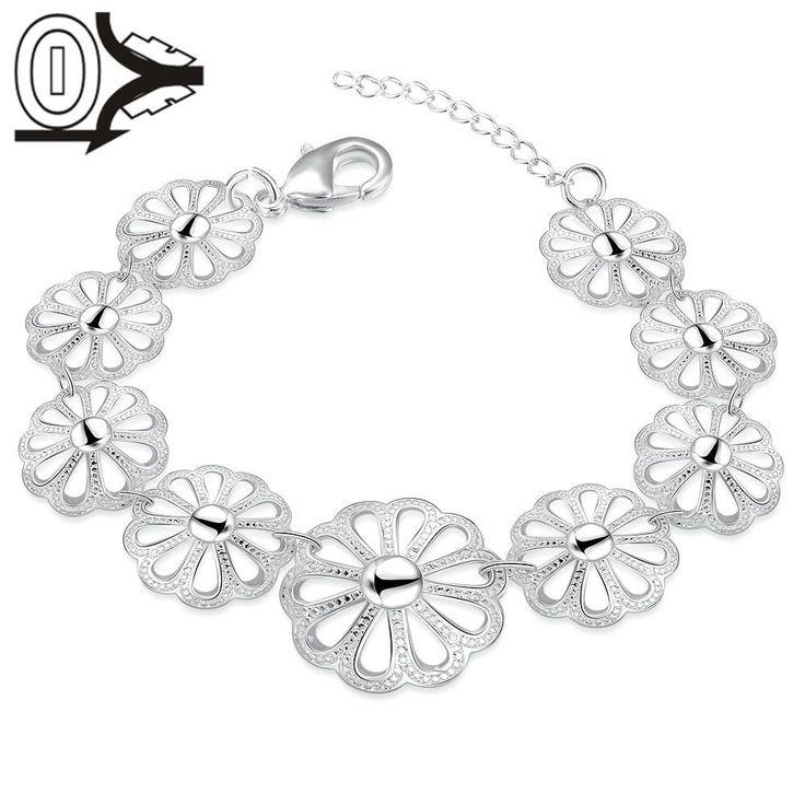Top Quality Hot Sell Silver Plated Bracelet,Wedding Jewelry Accessories,Europe Fashion Hollow Pattern Female Bracelets Bangle
