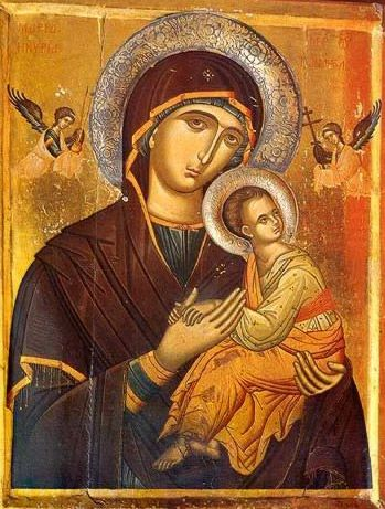 The Virgin of the Passion - Icon in the Monastery of St. Catherine on Mt. Sinai