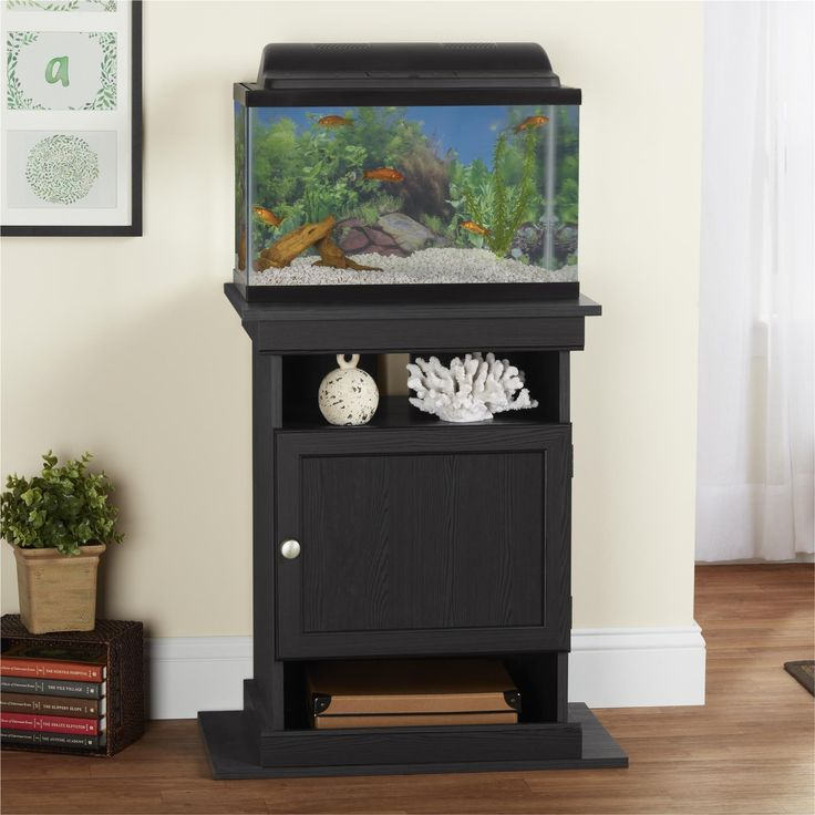 Make your room come alive with this aquarium stand. It has the ability to switch between a 10-gallon or a 20-gallon stand depending on your tank size. The unit is versatile and allows you to display y