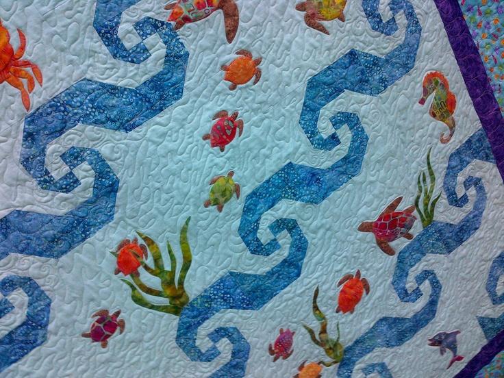 56 best Turtle quilt images on Pinterest | Turtle quilt, Sea ... : sea turtle quilt pattern - Adamdwight.com