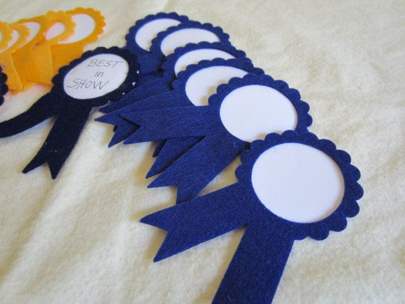 Prize Ribbons- First Place-Blue and Gold AWARD Ribbon-Felt Award Ribbons-Trophy Ribbons  Ask a Question $6.00 USD. CA