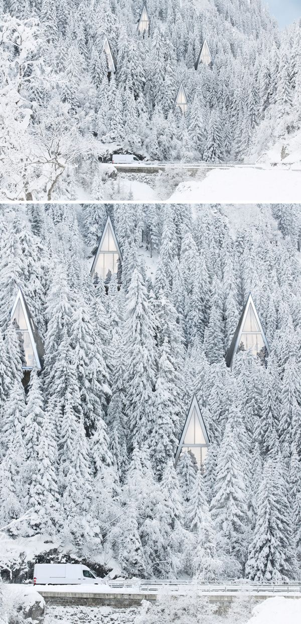 Forest suburbia is inhabited by self-sufficient tree-like homes : TreeHugger