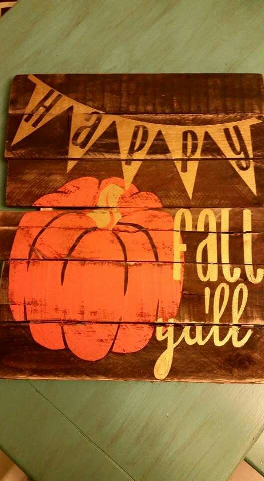 Fall Pallet sign by Erica Heredia