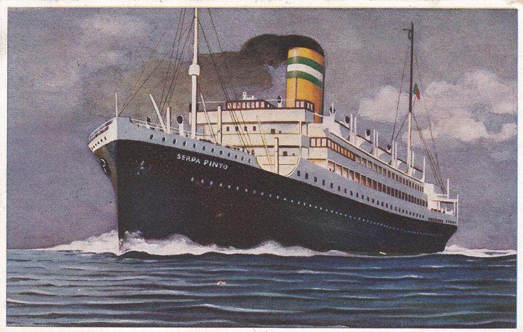 """Paquete """"Serpa Pinto"""", Companhia Colonial de Navegação (Portugal)"""
