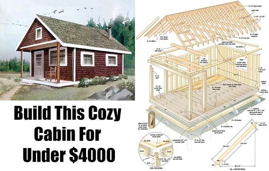 Build this cozy cabin for under 4000 cabin cheap cabins for Affordable cottages to build