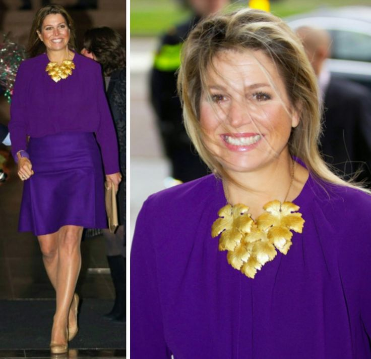 Queen Maxima in Cos dress and LK Bennett shoes and bag