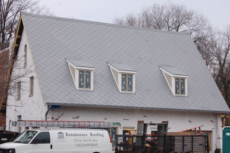 Roof Dormer Zinc Shingle Saddle Roof With Dormers