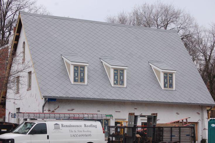 Roof Dormer Zinc Shingle Saddle Roof With Dormers