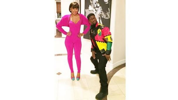 #CoupleCam: Celebs Show Love on Instagram | Eniko Parrish @enikobaby Martin and Gina, is that you? Nope, it's Kevin Hart and his fiancée dressed up as the iconic TV couple for Halloween.