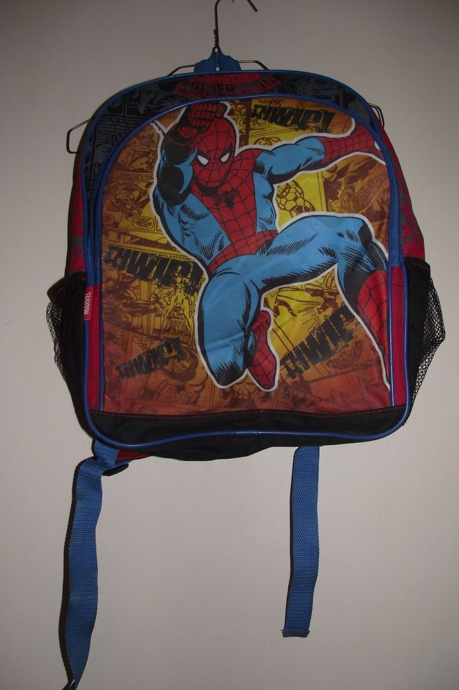 Marvel Comic Spiderman Backpack Kids Unisex School Vacations Travel 17 Inches Ta #Marvel #Backpack