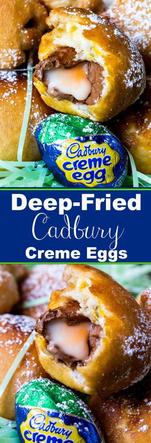Deep-Fried Cadbury Creme Eggs for Easter