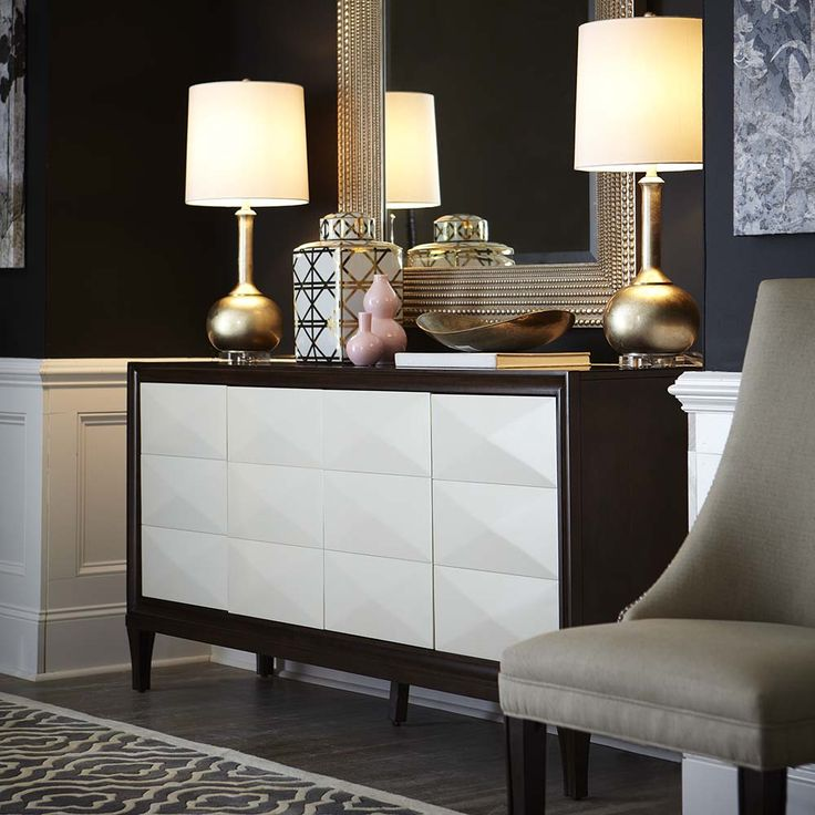 Presidio Entertainment Credenza By Bassett Furniture Features Ivory  Finished Doors.