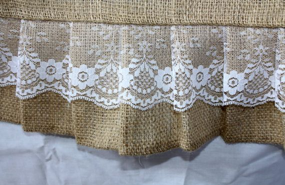 Custom listing for courtney murphy 14 ruffled burlap and for Burlap and lace bedroom