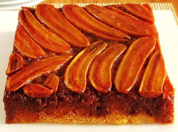 Torta de banana invertida | BuscaRecetas