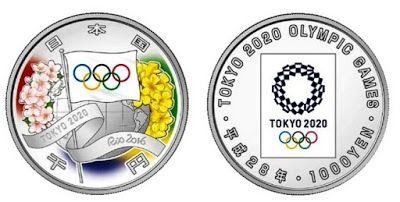 """AFNB - Boletim Virtual: Entrega da Bandeira Olímpica - Rio 2016 para Japão 2020 -  Entrega da Bandeira Olímpica - Rio 2016 para Japão 2020 Para marcar a cerimônia da """"Entrega da Bandeira Olímpica"""" da cidade do Rio de Janeiro para a cidade Tóquio a Casa da Moeda do Japão anunciou que deverá emitir duas moedas comemorativas dos Jogos Olímpicos e Paralímpicos a serem realizados em 2020.coin"""