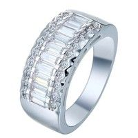 Wish | Fashion Jewelry 925 Sterling Silver White Gem Engagement Ring Fashion Jewelry for Women