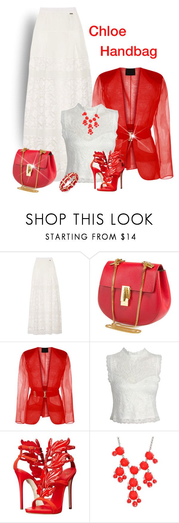 """""""Chloe Handbag"""" by lorrainekeenan ❤ liked on Polyvore featuring Just Cavalli, Chloé, Sans Souci, Giuseppe Zanotti, New Directions and Charter Club"""