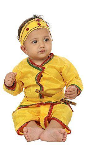 Krystle Yellow krishna style kurta & dhoti dress for kids... http://www.amazon.in/dp/B01LHP7XJC/ref=cm_sw_r_pi_dp_x_QgMkzb0R4P8V3