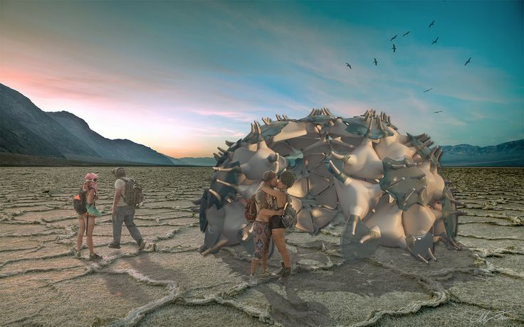 Desert Pavilion - Burning Man Festival proposal, Student Project, 2016, Shenkar, AK Design www.annakislitsina.com