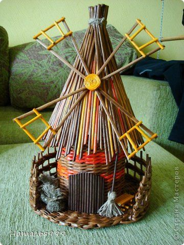 Поделка изделие Плетение Мельница Трубочки бумажные фото 1