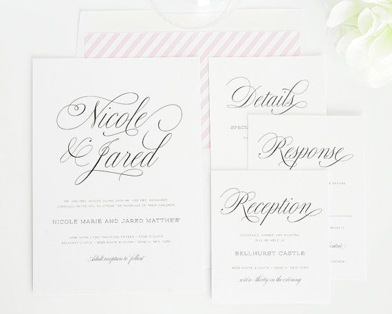 Gorgeous Wedding Invitation Light Pink by ShineInvitations
